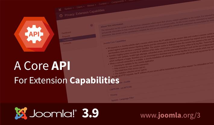 Joomla 3.9 Capabilities