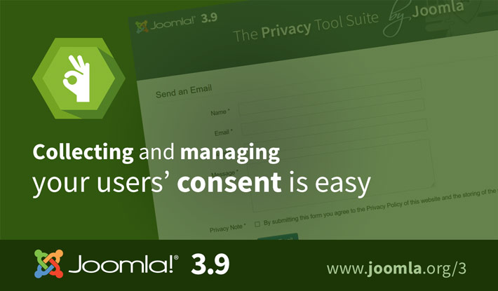 Joomla 3.9 User Consents
