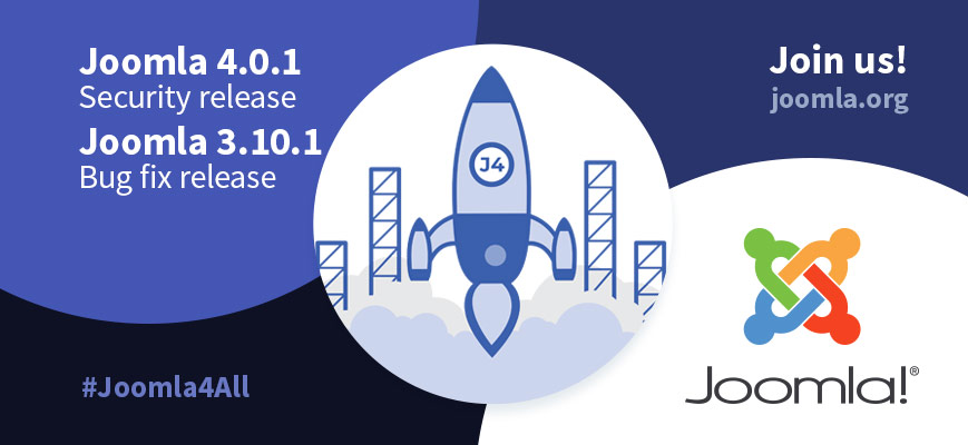 Joomla 4.0.1 Stable - Ready for a new world of possibilities. Use the hashtags #joomla4 #Joomla4All