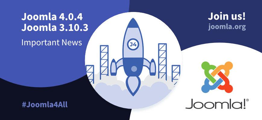 Joomla 4.0.4 Important news. Use the hashtags #joomla4 #Joomla4All