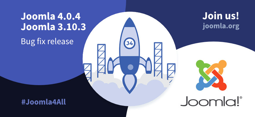 Joomla 4.0.4 Stable - Ready for a new world of possibilities. Use the hashtags #joomla4 #Joomla4All