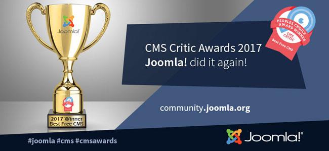 joomla cms critic awards 2017