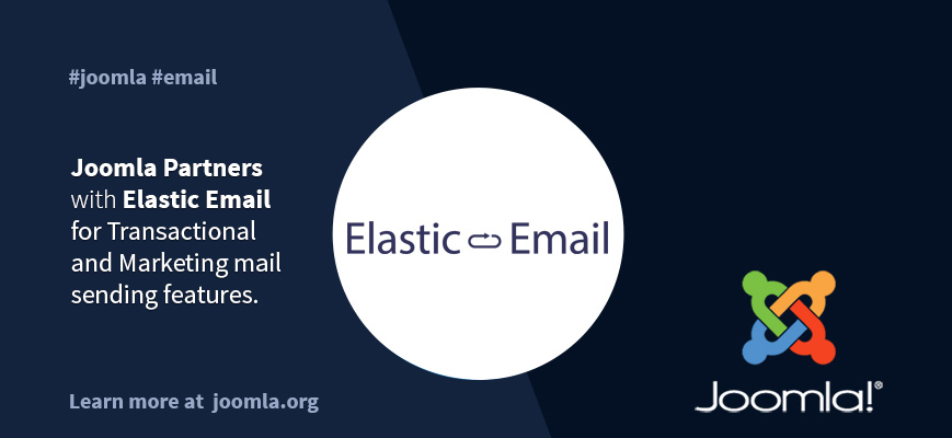 Joomla partners with Elastic Email for Transactional and Marketing mail sending