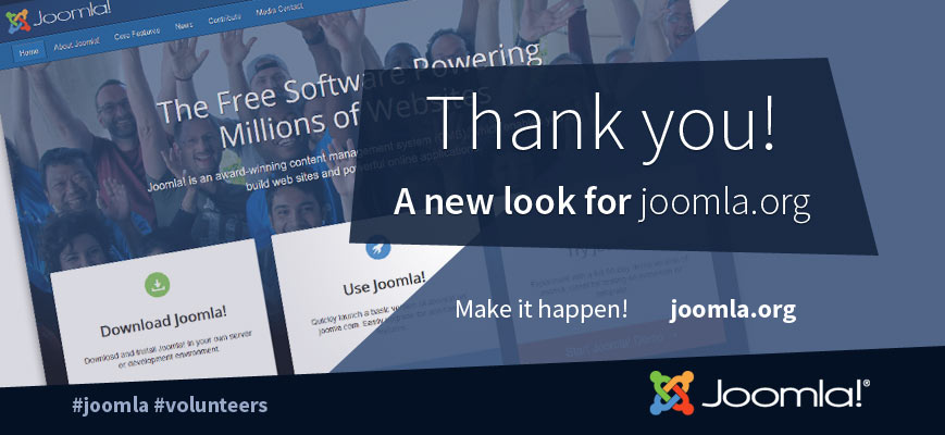 joomla homepage redesign