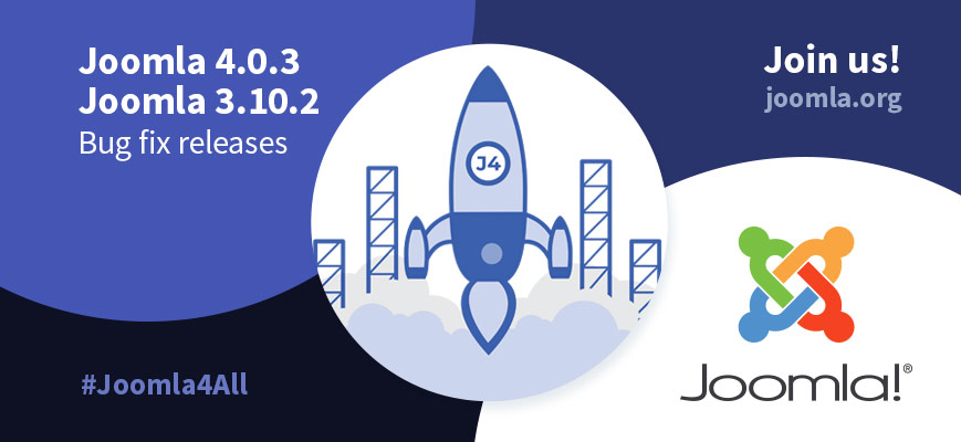 Joomla 4.0.3 Stable - Ready for a new world of possibilities. Use the hashtags #joomla4 #Joomla4All