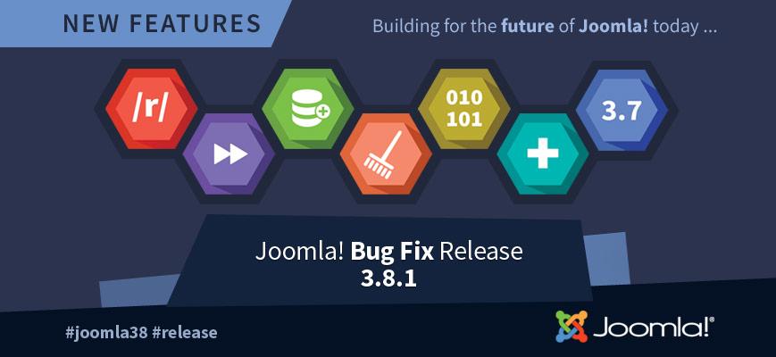Joomla! 3.8.1 är släppt