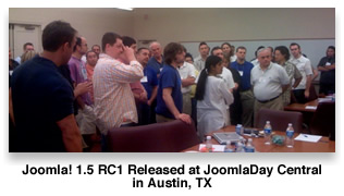 1.5 RC1 released at JoomlaDay Austin